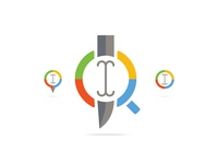 Paid Search Icons Concept - Target Keywords