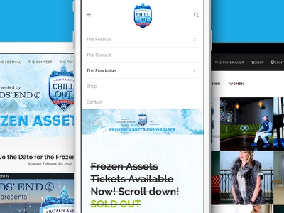 Frozen wi madison festival winter ice fundraisers events ecommerce ui design ux design frozen