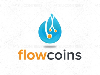 Flowcoins vector logo design