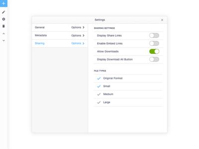 UI/UX Pattern - Settings Module and Toolbar