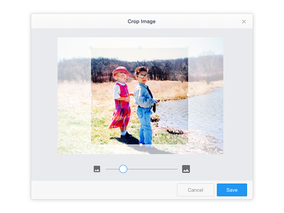 Image Crop and Resize Tool UI/UX simple clean ux ui image tool resize crop