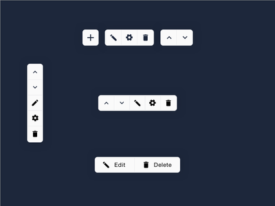 Light Functional Icon Toolbar  icons controls design material ux ui toolbar