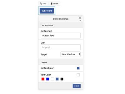 Button Customizer ui design dialog popover material ios customize buttons ux