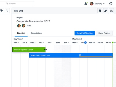 Project Timeline UX