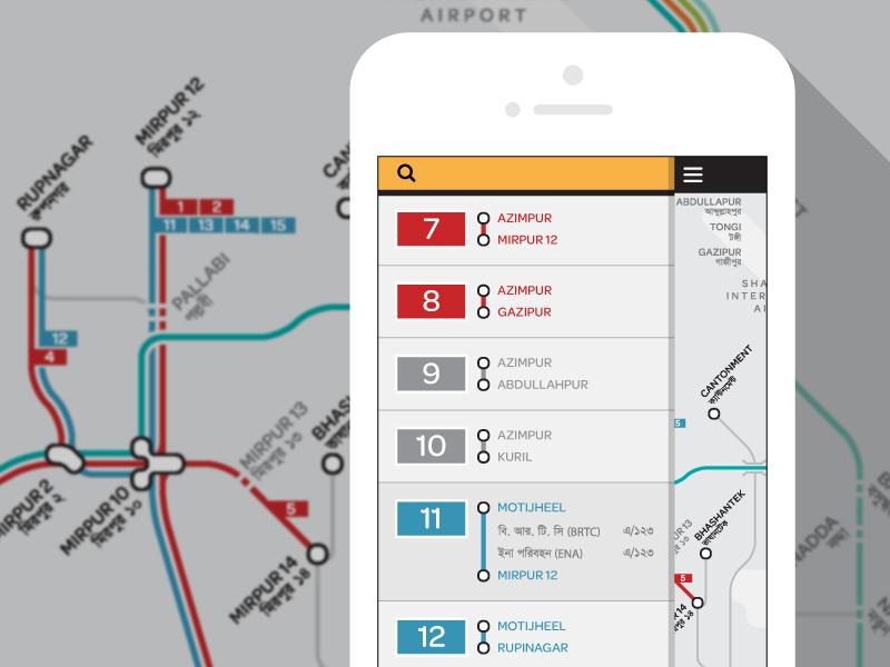 Digital Bus Map of Dhaka by Stephen Kennedy on Dribbble