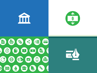 Financial Minicons government minicon icon finance consumers money bank credit branding consumer