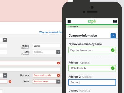 Complaint Form field validation complaint form validation success error ui mobile government