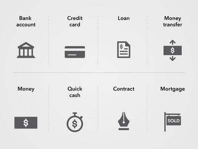 Financial Minicons loan consumer finance icon bank credit money