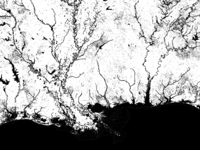 Mapping TIGER water shapefiles map data water