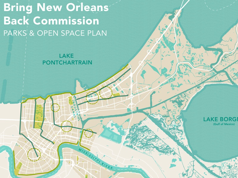 Parks & Open Space Plan map plan parks urban planning new orleans