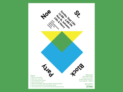Duboce Triangle Block Party Poster geometry poster