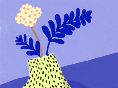 Detail, Vase #3 flower design illustration