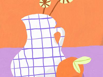 Vase #1 flower illustration