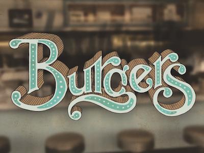 Burgers Lettering burgers lettering