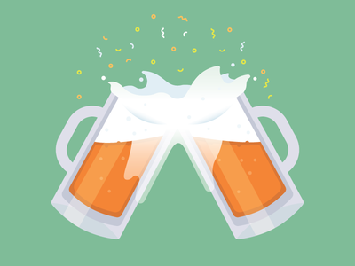 Cheers! beer confetti illustration
