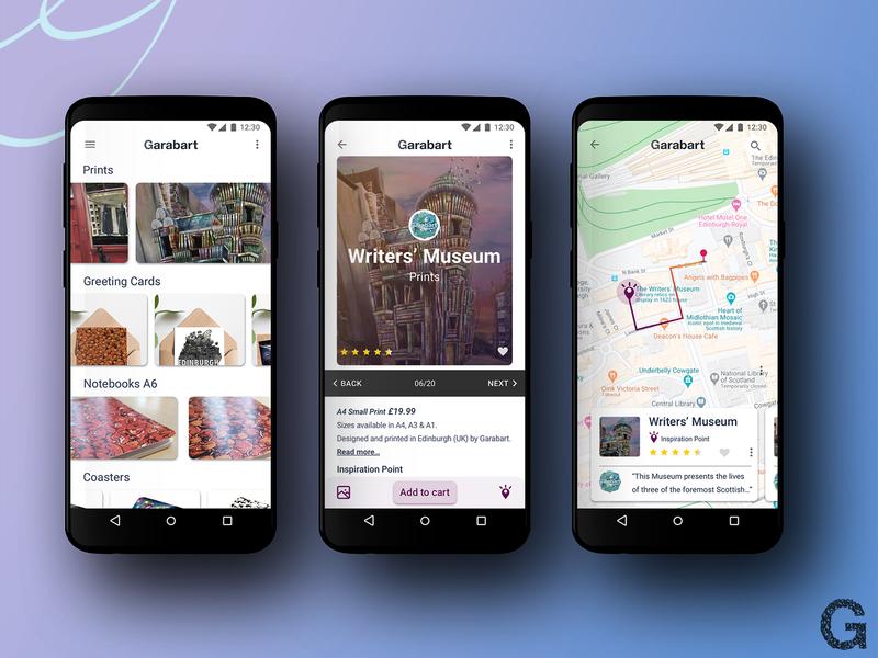 Art Shop App ux ui art artist design illustration app