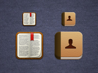 Some Icons ios iphone icons contacts ibooks