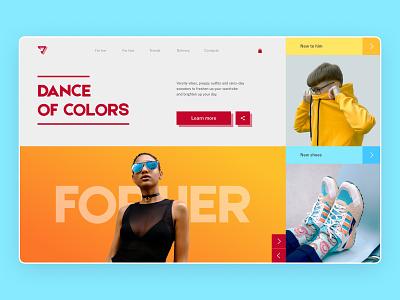 Online clothing store clothing store store design webdesign ux ui web design
