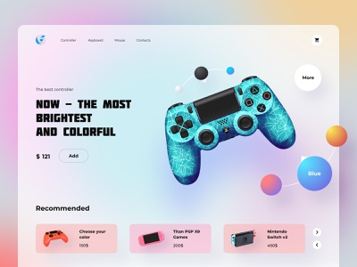 Online store for gamers gaming store design webdesign website