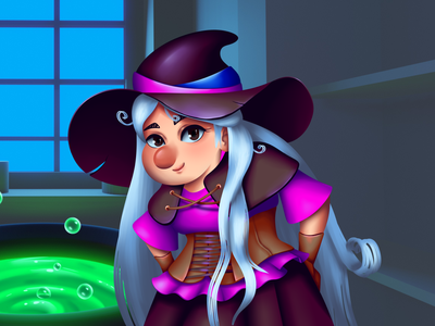 Express potion | Witch witch game illustration 2d art game art casual game dribbbleweeklywarmup