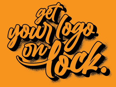 Get your logo on lock typography. vector illustration typography