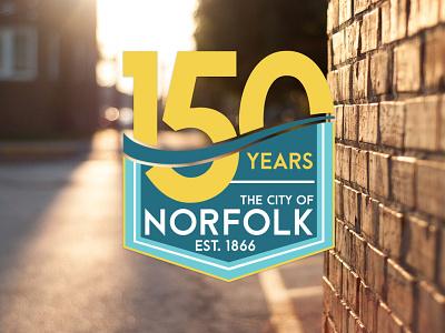 City of Norfolk NE 150 Celebration Logo city branding logo vector design