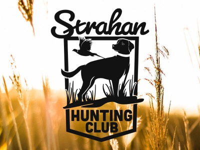 Strahan Hunting Club Logo hunting dog logo custom drawing branding design logo design logo
