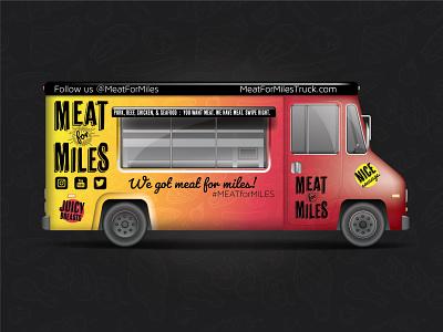 Meat for Miles -  Food Truck Branding dribbbleweeklywarmup logo branding design