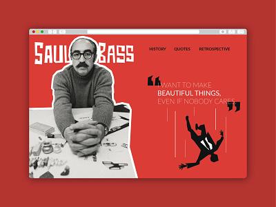 Weekly Warm-Up: Favorite Designer Homepage - Saul Bass illustraion typogaphy artist homepage design weekly warm-up webdesign