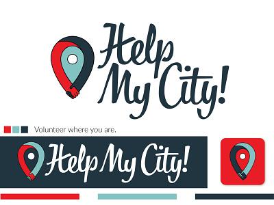 Help My City Logo Identity design logo volunteering