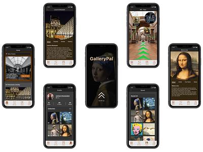 GalleryPal monalisa travel app augmented reality museum google design sketch invision design sprint high fidelity prototype ui design ux design mobile app
