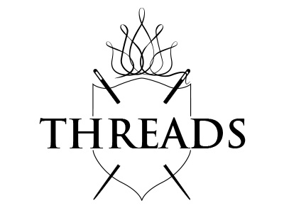 Threads Logo logo illustrator ui branding line needle thread
