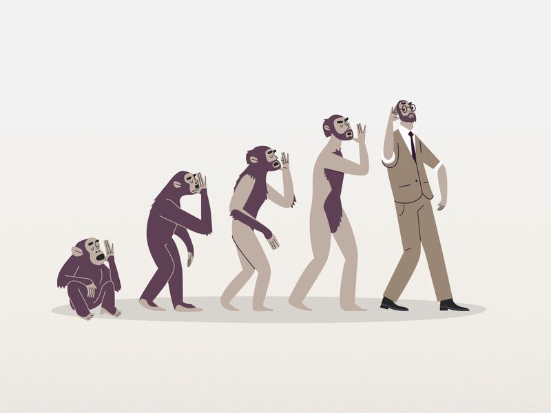 Iteration generation styleframes iteration progression learning monkey ape evolution