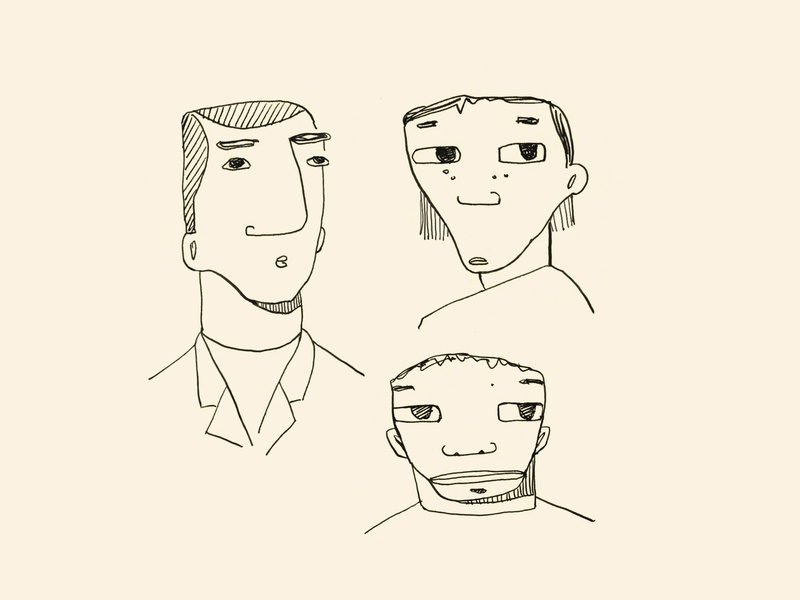 Faces 1 character faces hand drawn