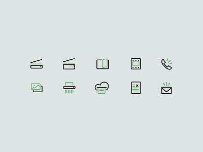 Scanning icons