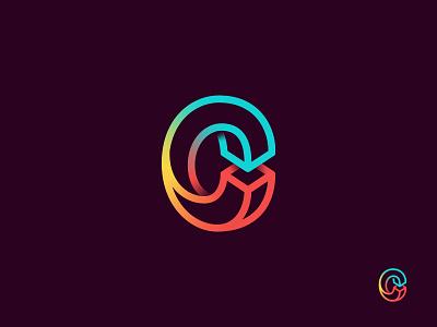 Connaught logo v3 gradient c mark logo escher