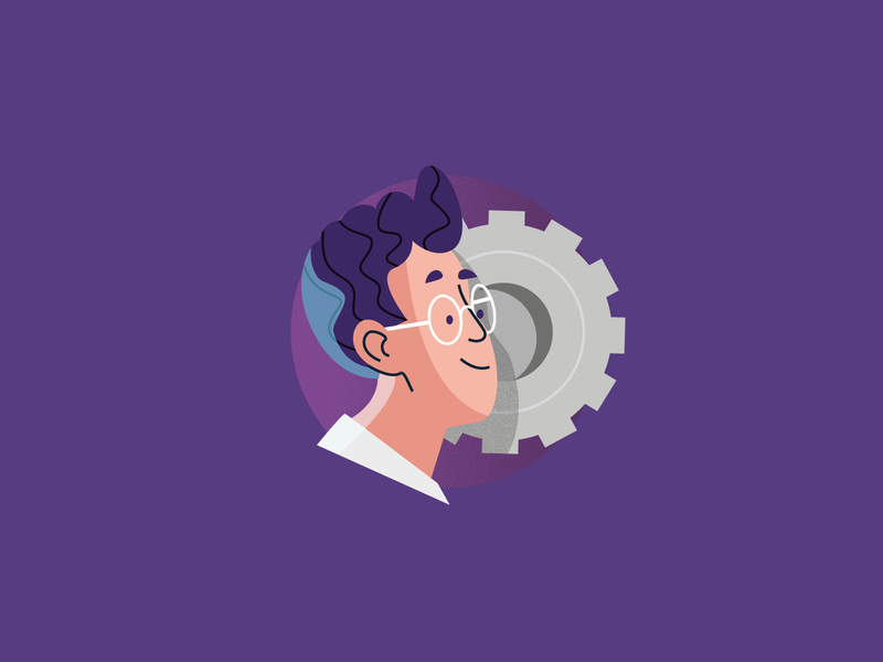 Admin management user flat vector character illustration