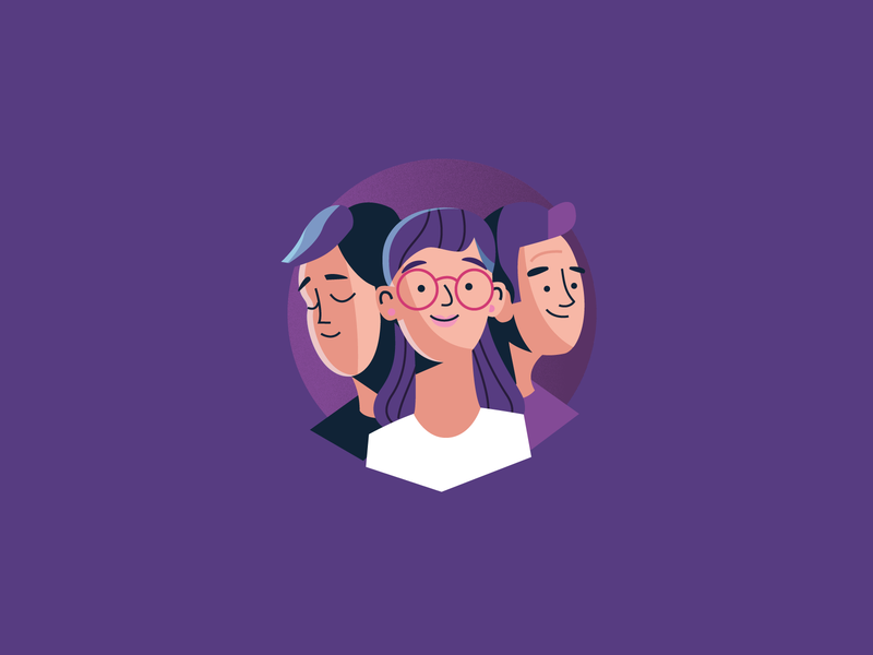 Users flat vector character users illustration