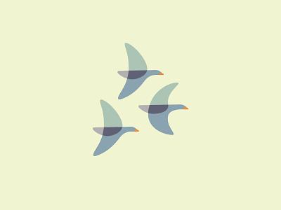Geese vector symbol illustration flat identity flying birds formation logo geese