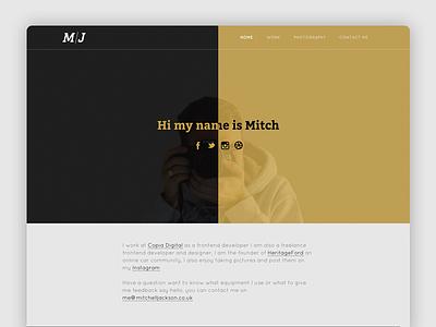 Personal Website Redesign mitch jackson jackson mitch redesign website
