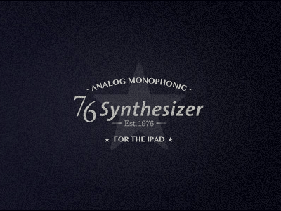 76 Synthesizer vintage retro logo texture ipad