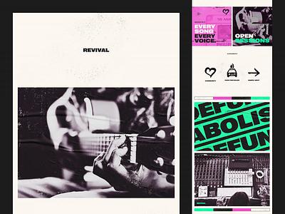 Revival Style Tile web design brand identity brand social justice dj music production record label grunge dark music activism resist branding styletiles style tile