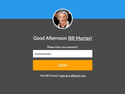 Good Afternoon Bill Murray!