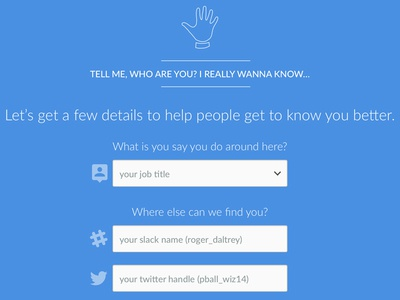 Fun with onboarding...