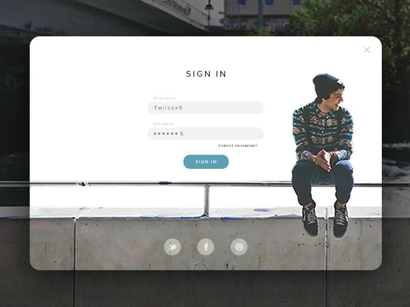 Day 001 - Login Form element sign in login input form user interface widget web app ux ui