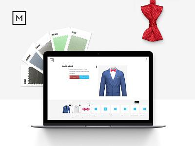 Menguin Event Flow swatch bowtie tux suit fashion menswear web ux app ui