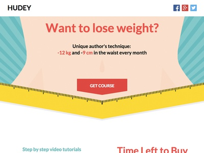 Hudey - Weight Loss Unbounce Template