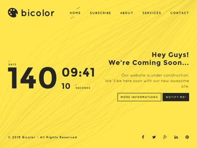 Bicolor - Creative Coming Soon Template