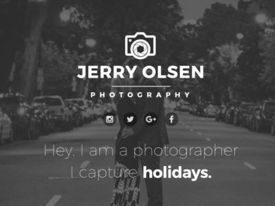 PhotoX - Unbounce Template For Photographers