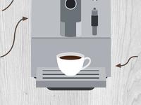 Home Barista coffee machine illustration